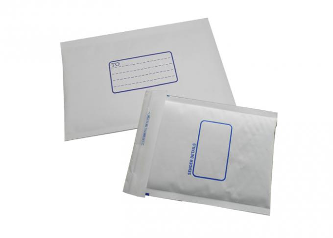 Recycled white kraft bubble mailer , mailing bubble envelopes Printed logo