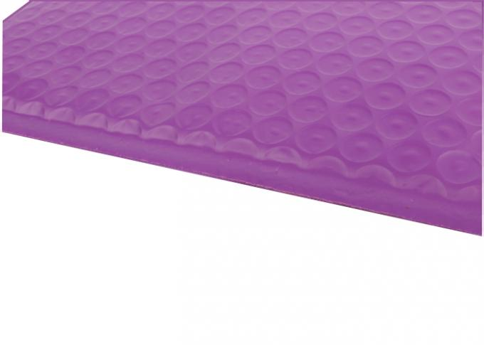 Purple Colored Bubble Poly Mailers , Padded Poly Mailer Envelopes Shipping