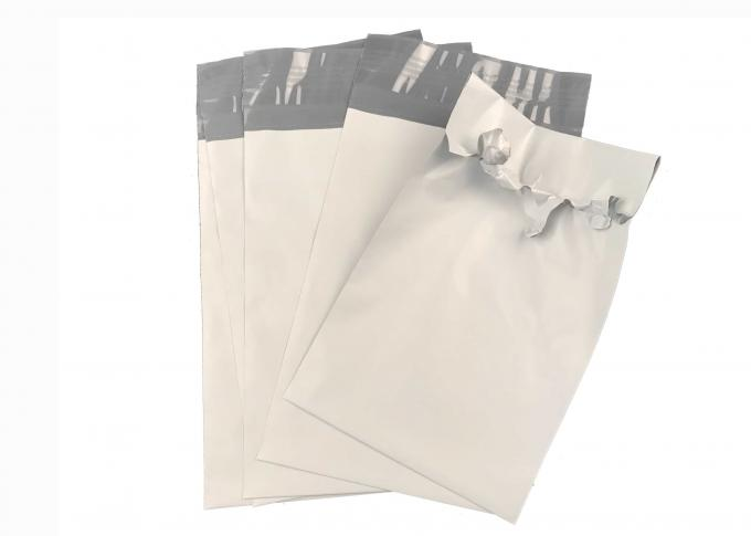 Moisture Resistant White Plastic Mailing Envelopes With Adhesive , 9 In. X 12 In.