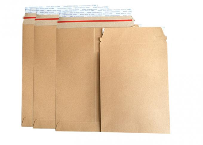 Photo Mailers Rigid Cardboard Envelopes , Kraft Paper Envelopes Non Bendable Cardboard Mailer