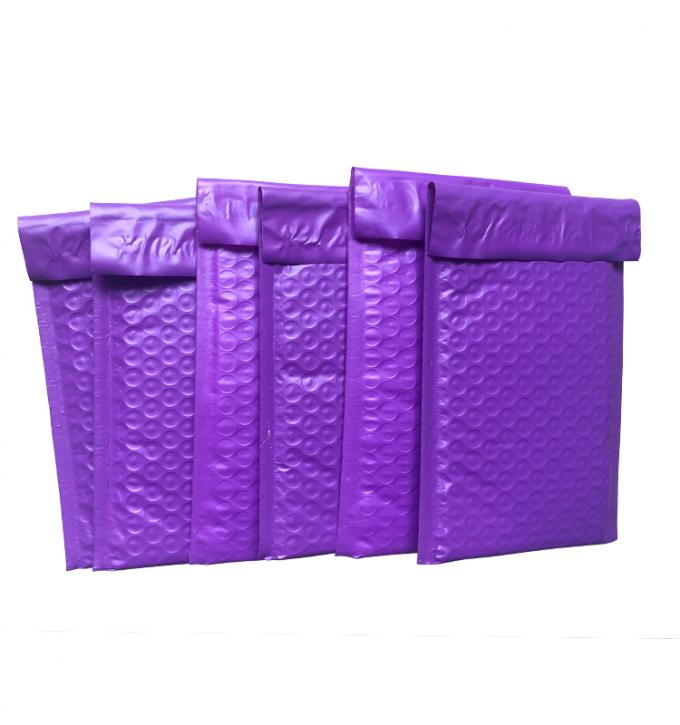 Purple 6x9 Poly Bubble Wrap Padded Envelope Hot Melt Adhesive Glue Custom Size