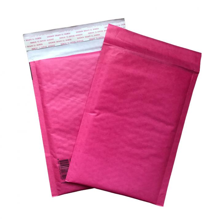 Red Kraft Paper Padded Shipping Envelopes , Self Sealing Shipping Bubble Mailers