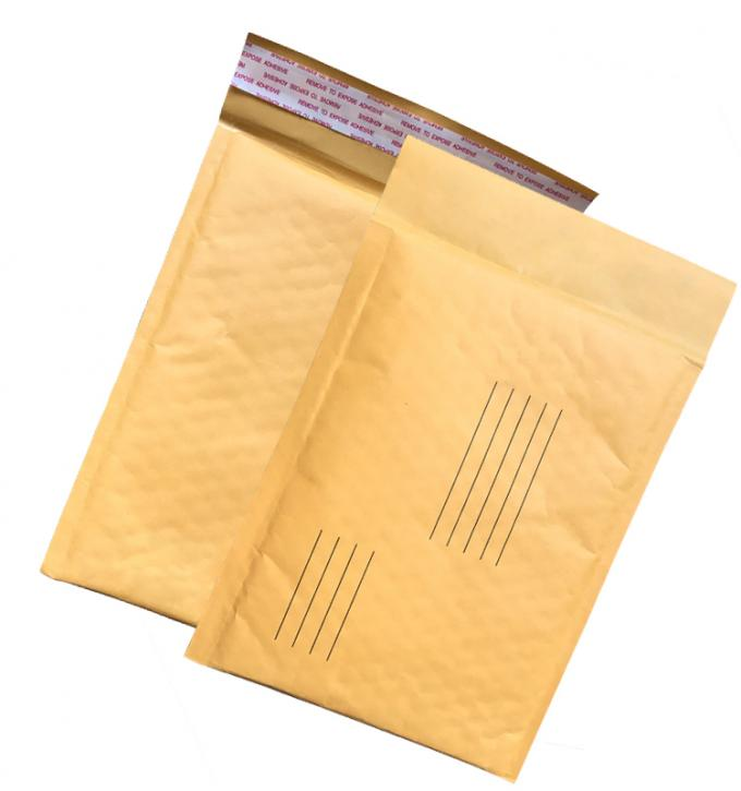 Brown Kraft Padded Envelopes , Custom Printed Bubble Mailers With Cushion