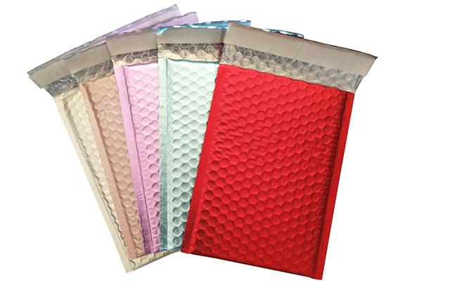Rose Golden Metallic Bubble Mailer Self Seal Padded Envelopes Rigid Surface Durable