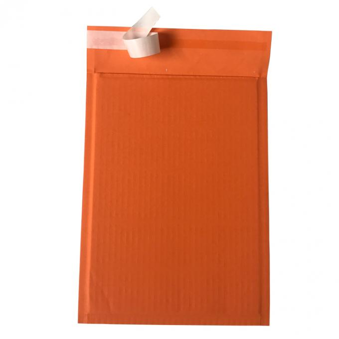 Custom Orange Rigid Cardboard Envelopes , Self Seal Envelopes Light Weight