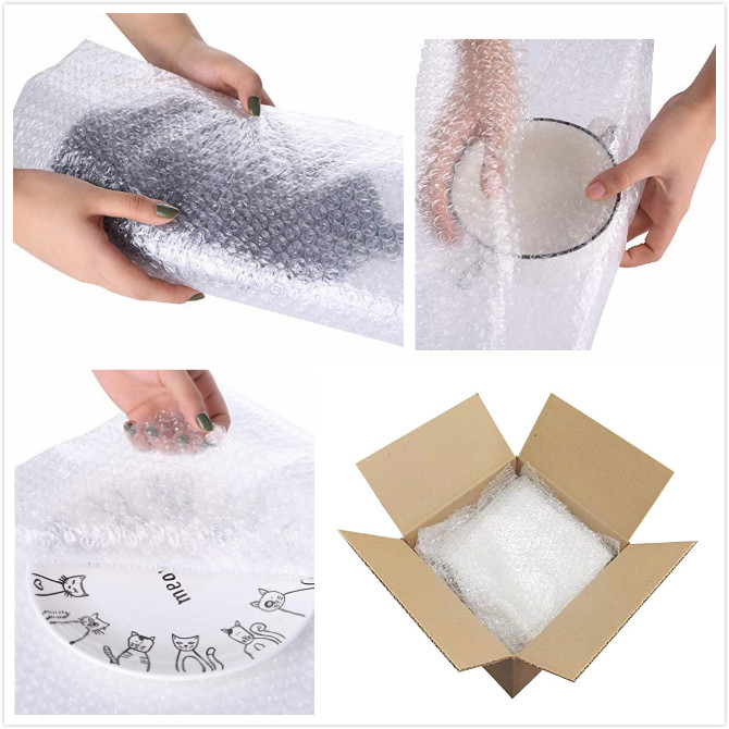 Air Cushioning Clear Bubble Wrap Pouches 16 Inch X 750 Feet PE Customized Color