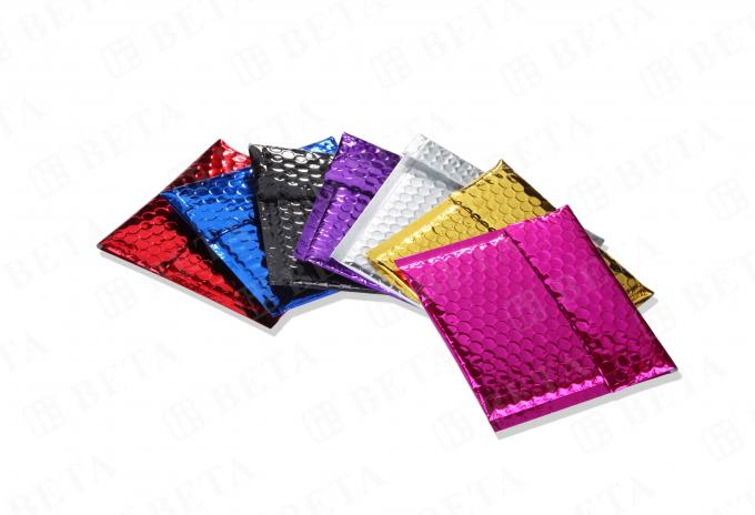 Moisture Proof Glamour Mailers Colorful 6x10 Metallic Bubble Mailers