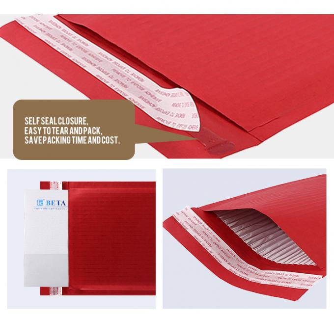Compostable 100% Recyclable Padded Mailing Envelopes Self Seal Recycled Bag Corrugated Paper Padded Cushion
