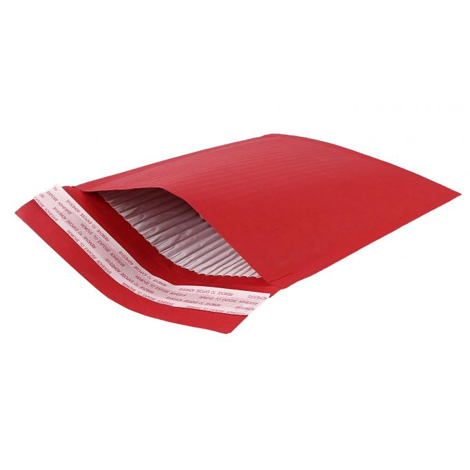 100% Recyclable Self Seal Recycled Rigid Cardboard Envelopes / Corrugated Paper Padded Cushion Packaging