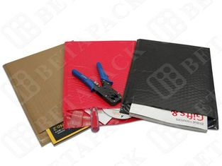 Cushioned 9x12 Bubble Mailers , Tear-Proof Red / Black Poly Mailer Bags