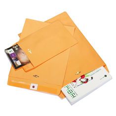 China 9 X 12 28lb Rigid Cardboard Envelopes Brown Kraft Clasp With Deeply Gummed Flaps supplier