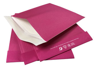 Pink Paper Corrugated Padded Envelopes / Printed Paper Padded Mailers