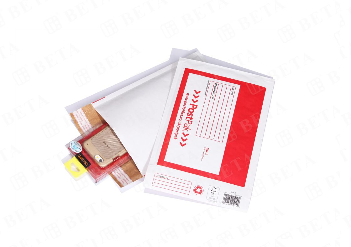 Customized Self Seal Kraft Bubble Mailer Envelopes With White Top Liner