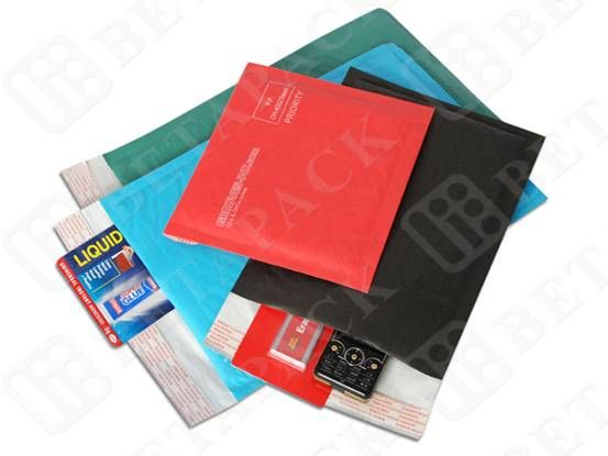 Colored Water Resistant Kraft Bubble Mailer Envelopes Bags 165  x 165mm