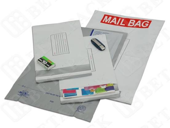 Tear - Proof Custom Printed Poly Mailers , White 6x9 Poly Bags