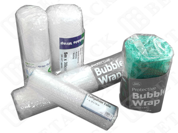Extra Wide Bubble Wrap Pouches Rolls Wrap Packing Material 45-50gsm ISO Approval