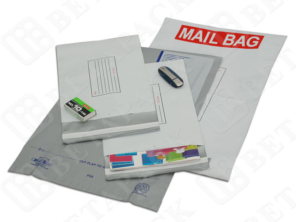 White / Grey Self Adhesive Poly Mailer , 24x24 Express Post Envelopes