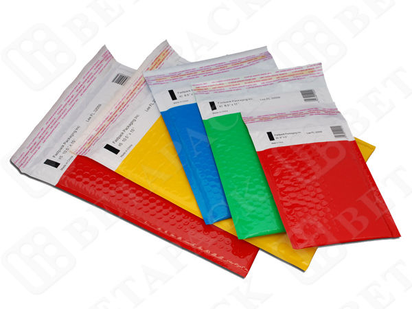 BOPP / PE Film Custom Printed Poly Mailers Bubble Wrap Mailing Envelopes