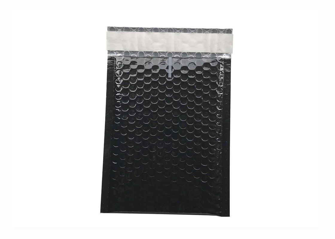 Black Bubble Mailers 180x250 Gloss Metallic Bubble Envelope for Shipping