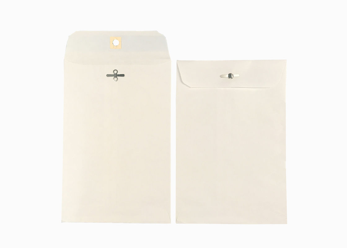 ISO White Kraft Mailing Clasp Envelopes 6X9 Dual Purpose Seal For Small Booklets