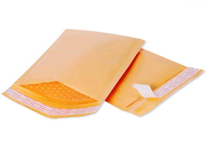 Recyclable 6x10 Golden Kraft Bubble Mailer Self Seal Padded Envelopes Strong Hot Melt Adhesive