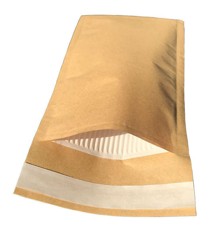 Brown Kraft Cover Corrugated Paper Bubble Padded Envelopes Custom Printing