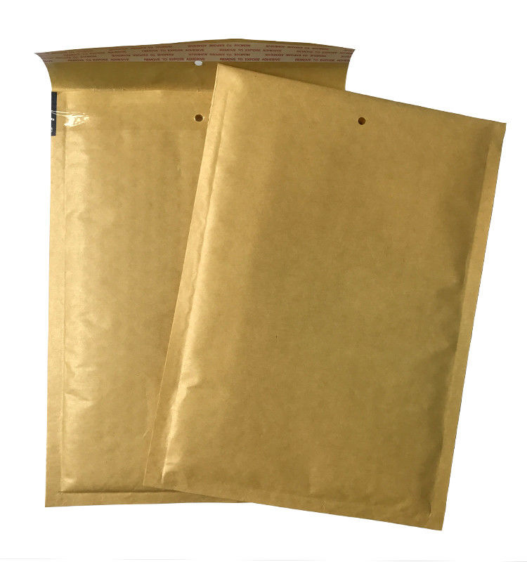 "Hot Melt Adhesive Kraft Bubble Mailer 6""X10"" Custom Brown Mailing Bag Light Weight"