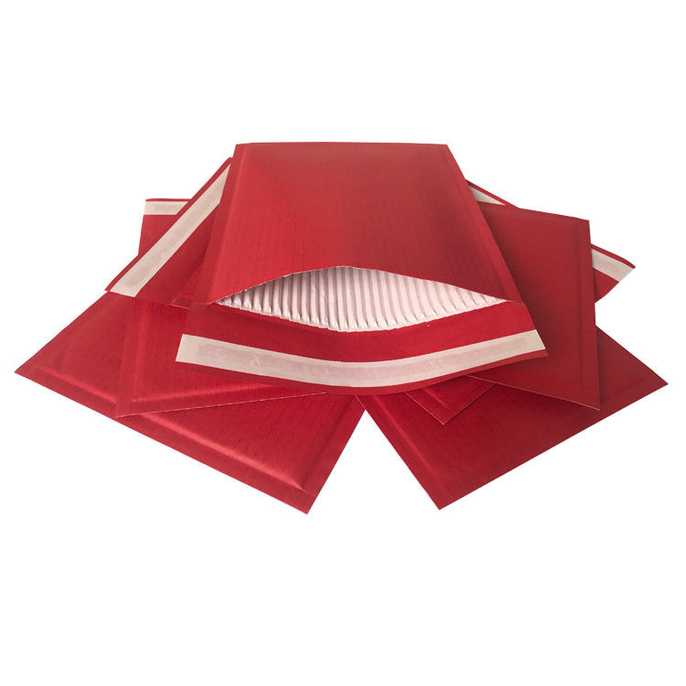 Red Kraft Rigid Cardboard Envelopes Corrugated Padded 100% Recyclable Hot Melt Adhesive