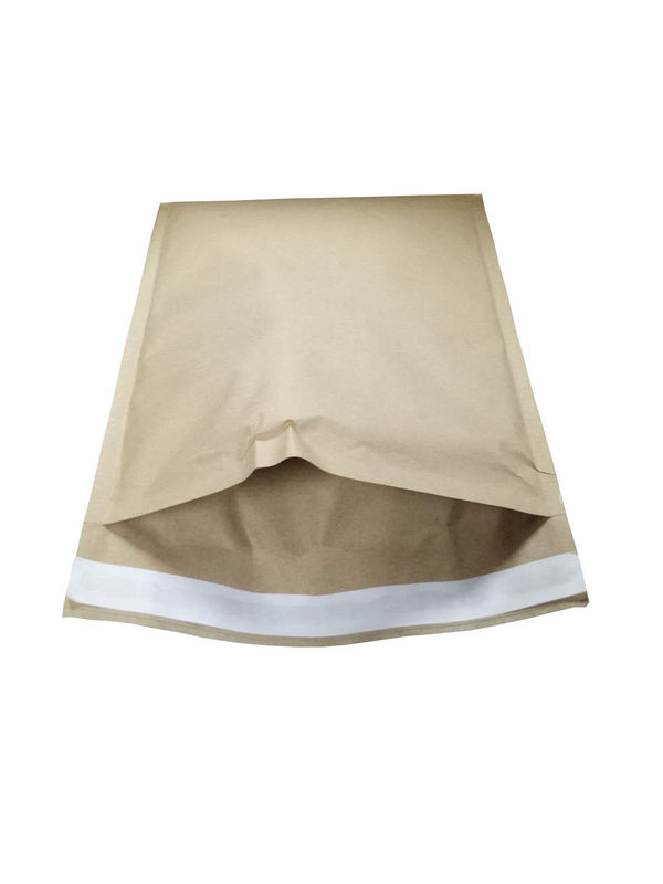 Die - Cut Natural Brown Kraft Bubble Mailer Padded Mailing Envelopes 3D Honeycomb Structure