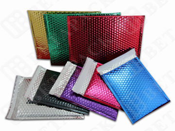China Custom Printed Metallic Bubble Mailer Shipping Envelopes With Bubble Wrap factory