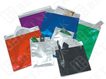 Red / Blue / Green PE Film / Aluminum Foil Envelopes With Self Seal Closure