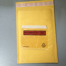 China Golden / Yellow Padded Envelopes With Documents Enclosed / Attached Pouch factory
