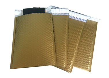 Fashionable Gold Matt Aluminum Metallic Foil Bubble Mailers Shipping Gift