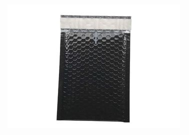 Black Gloss Metallic Bubble Envelopes 180x250 Moisture Resistant For Shipping
