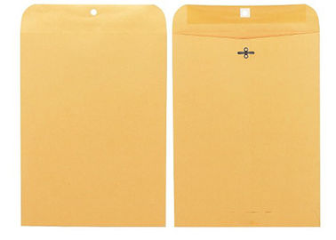 Kraft Paper Brown Clasp Envelopes 9 X 12 28lb Custom Logo Double Prong Metal Clasps