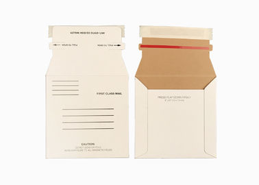 White Rigid Rigid Mailer Envelopes 5 x 5 Self Seal , Paperboard Envelopes With Easy Tear Strip