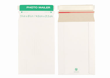 Self Seal Rigid Mailer Envelopes Custom Printed Cardboard Photo Mailers