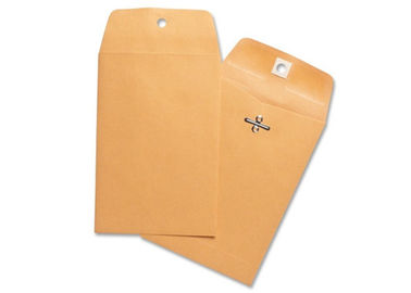 Brown 9x12 Kraft Clasp Envelopes Custom Printing Great For Storing / Mailing Documents