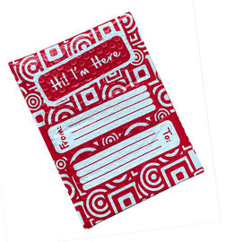 Full Printing Red Poly Bubble Envelope Mailer 6x10 Hot Melt Adhesive Glue