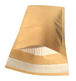 China Brown Kraft Cover Corrugated Paper Bubble Padded Envelopes Custom Printing factory