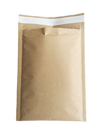 Wholesale Shipping Envelope Packaging Brown Kraft  Adhesive Strip Honeycomb Padded Custom Natural Recycle Paper Bag