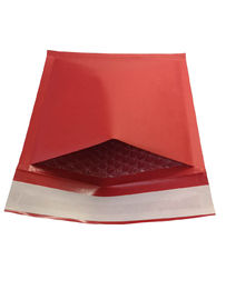 Eco-friendly Red Kraft Padded Mailing Envelopes , Recyclable Shipping Bubble Mailers Self Adhesive Closure