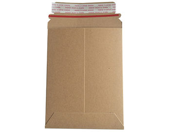 China Recyclable Rigid Cardboard Envelopes Mailer Destructive Tape Design For Document factory