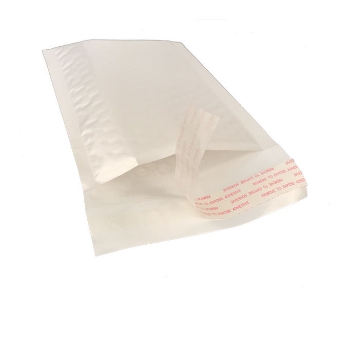 Lightest Pearl Poly Postal Bubble Envelope 100% Recycled Custom Printed Poly Mailers
