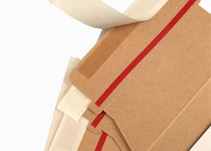 5 x 5 Self Seal Rigid Cardboard Envelopes , Paperboard Envelopes With Easy Tear Strip